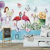 Worryd HD Drucken Poster Bild Schmetterling Flamingo Tier Löwenzahn Pflanzen Wand Papier 3D Wandbild Große Größe Foto Wasserdichte Tapete Kinder Schlafzimmer Kinderzimmer, A