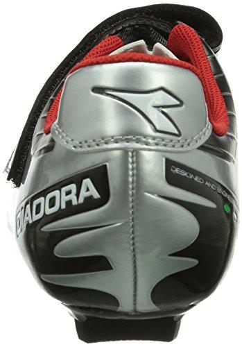 Diadora Phantom, Chaussures de Vélo de route mixte adulte Argent - Silber (schwarz/silber DD/weiß 7720)