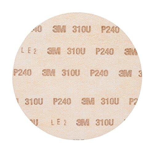 3M Hookit Schleifscheibe 310U, 150 mm, P240, ungelocht, 100 Stück / Karton