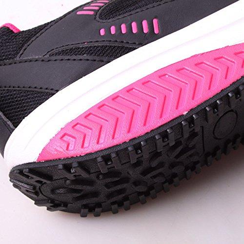 Sneakers Dimagranti in Pelle Ecologica e Lattice nero fuxia