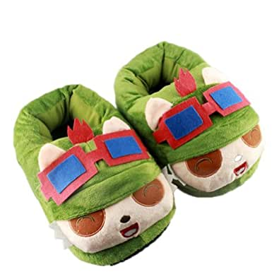 Jieluomao Lol League of Legends Teemo chaussons chauds mignonne peluche Pantoufles