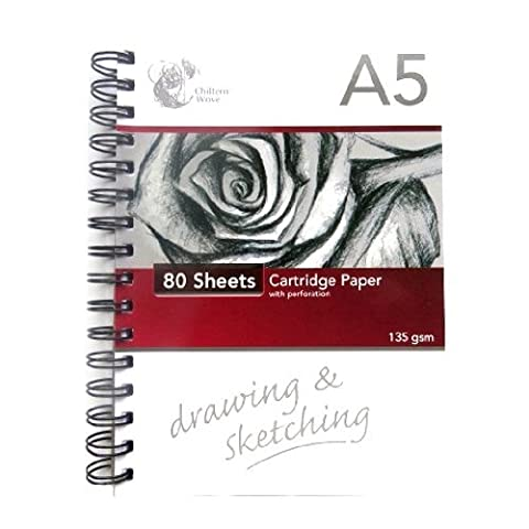A5 dessin et l'esquisse Pad - 80 feuilles - Papier Cartouche 135g - Fil lié - Taille 210mm x 148mm