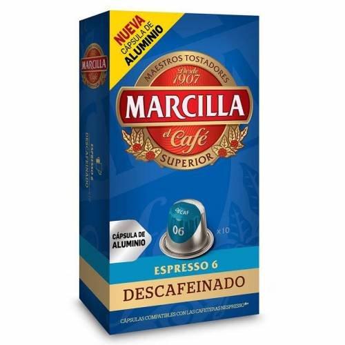 Cápsulas Nespresso Marcilla Descafeinado (10 cápsulas)