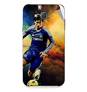 Miicreations Mobile Skin Sticker For Samsung Galaxy J7,Football Player