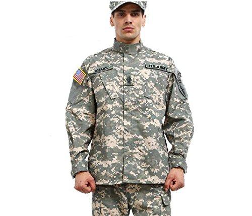 Noga, Tarnanzug, Kampfanzug, Feldanzug, Militäruniform, Jagdanzug, für Planspiele, Paintball, Jacke und Hose XXL acu camo -