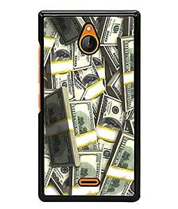 PrintVisa Designer Back Case Cover for Nokia X2 (Currecy Notes Black And White Design)