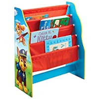 Paw Patrol Kids Sling Bookcase - Bedroom Storage by HelloHome - Everest, Chase, Marshall, Skye, Rocky