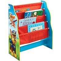 Paw Patrol Librería Infantil de Estantes Colgantes, Madera, Multicolor, 23x51x60 cm