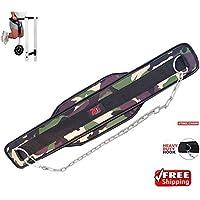 Cinturón 2Fit con cadena para musculación, levantamiento de pesas, cinturón para gimnasio, apoyo