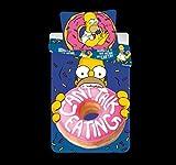 Jerry Fabrics Die Simpsons CharacterKinderBettwäsche mit ReißverschlussBettbezug 140 x 200 cm und Kissenbezug 70 x 90 cm, Baumwolle, Purple, 200 x 90 x 0.5 cm