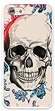 Coque Fleurs Bleues Tete Mort iPhone 7 Plus / iPhone 8 Plus - Protection Souple