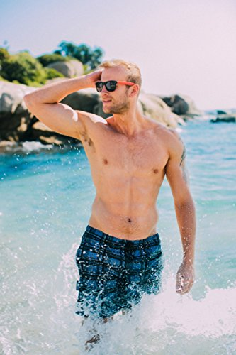 GUGGEN MOUNTAIN Herren Badeshorts Beachshorts Boardshorts Badehose kariert *High Quality Print* Kariert