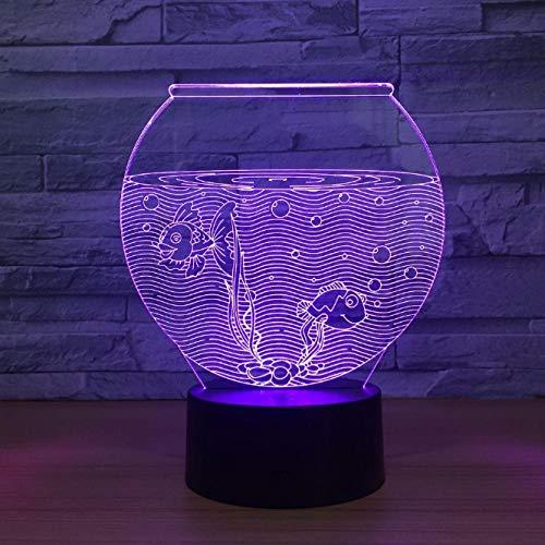 Nachtlicht, nacht lampe, aquarium 3d lighing dekoration freunde geschenke led usb für kinder geschenke kinder schlafzimmer