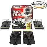 TwinterS Not Applicable, TwinterS Profi-Rattenfalle zur Schädlingsbekämpfung, hygienisch aus Kunststoff (Ratte 4 Stück)