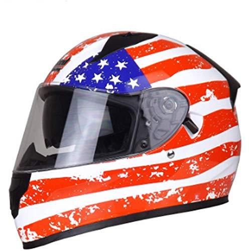 DTTN Helme infantil, T Batería de la motocicleta del coche del niño del bebé Casco de 48-55 (2-8 Años de Edad) -azul