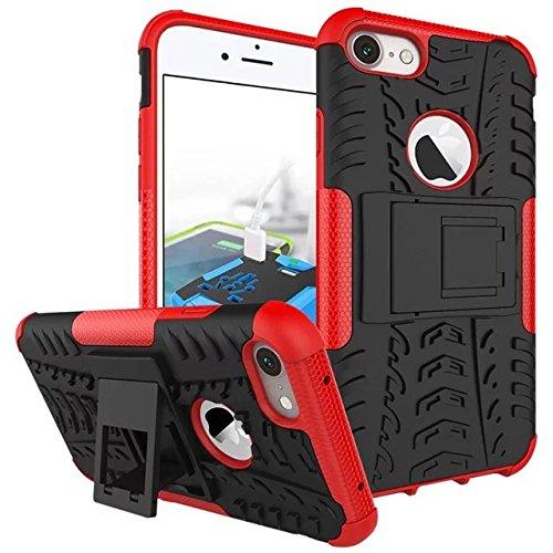 iPhone 7 Coque,Lantier 2 en 1 design Tire Series [Anti dérapant] Dual Layer Hybird Protection Goutte Defender Housseprotection pour iPhone 7 4.7 pouces rouge Tire Series Red
