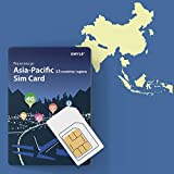 China, Thailand, Korea, etc. 9 Länder Prepaid-SIM-Karte 5 GB / 14 Tage, GMYLE Asia 4G LTE / 3G Internetdaten, unterstützt Facebook Instagram YouTube in China (nur Daten)