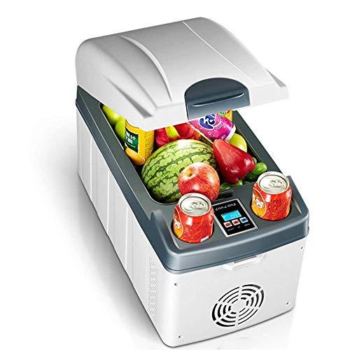 Elektro-Kühlbox, 20-Liter-portable Mini-Kühlschrank Auto Kühlschrank mit zwei Kernen zum Kühlen und Heizen