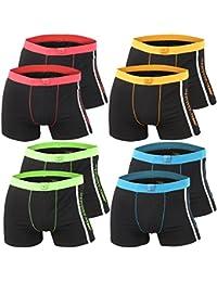 4er | 8er | 12er Pack Herren Retro Boxershorts REMIXX schwarz - exclusive von Lavazio®