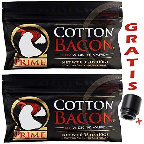 Cotton Bacon Prime de Wick 'N' Vape – 2 paquetes – Drip Tip 810 regalo