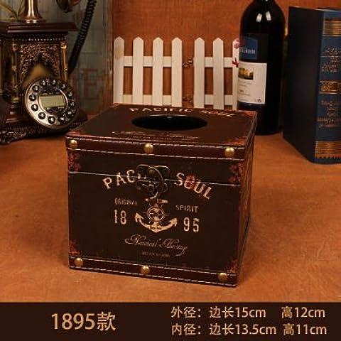 MEICHEN-Tejido caja cuadrada creativo viento británico bandeja bandeja mesa caja servilleta,3