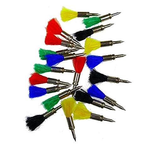 Air Rifle Gun Darts .177 Metal 20 per Pack Target Shooting Various Colours