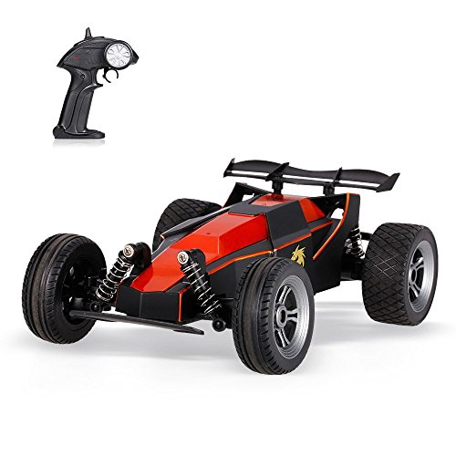 SZJJX RC Cars, Water Resistant Radio Controlled Racing Drifting Vehicle 2.4Ghz Remote Control Truck 1/24 2WD High Speed Rock Climber RTR Electric Off-Road Buggy SJ003 (Red)