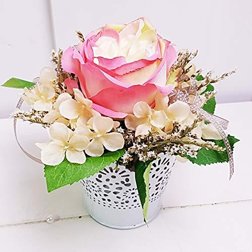 Gesteck Shabby chic Blumendeko Rose