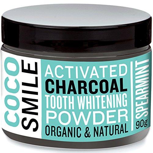 Natürliche Zahnaufhellung Premium-Kokosnuss Aktivkohle Pulver. Minzgeschmack- 100% rein, keine Chemikalien -Vegane bleaching für Zähne. Aktivkohle zahnpasta - Zahnbleaching - Zähne Aufhellen
