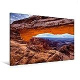 Premium Textil-Leinwand 120 cm x 80 cm quer, Ein Motiv aus dem Kalender National-Parks der USA | Wandbild, Bild auf Keilrahmen, Fertigbild auf echter Leinwanddruck: Mesa Arch (CALVENDO Natur)