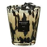 Baobab MAX16PB Pearls Black Kerze, Kerzenwachs, 16 x 10 x 16 cm