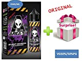"Brand New 60 milliliters Bottles of E-Liquid Premium 0 MG""AREA 51/Event Horizon/Blend of Favorite Fruits""(50PG/50VG) + one Free Surprise Gift (Exclusive)"