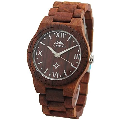 Amexi Handmade Mens Wooden Watch