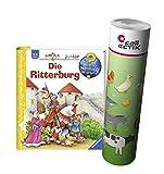 Ravensburger Junior Buch 2-4 Jahre | Die Ritterburg + Kinder Bauernhof Tiere Poster
