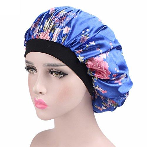 EisEyen Frauen Sleep Cap Satin Night Bonnet Kopfbedeckung Beanie Hut Haar Schönheit Elastic
