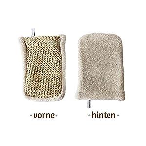 Sisal Massagehandschuh – Bio-Qualität – tiefgehender Peeling-Effekt durch grobe Struktur- Peeling am ganzen Körper. Made in Italy – Sarenius Premium Spa