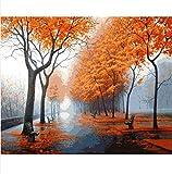 Likeai Handgemaltes Ölgemälde 50X40Cm Herbstbaum Handgemaltes DIY-Ölgemälde Digitale Acrylfarbe Dekoratives Bild Für Wohnzimmerwandgemälde No Frame