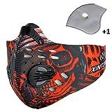 Sport Maske Radfahren Laufen Outdoor Gesichtsmaske Starter Training Maske für Männer und Frauen (Rot)