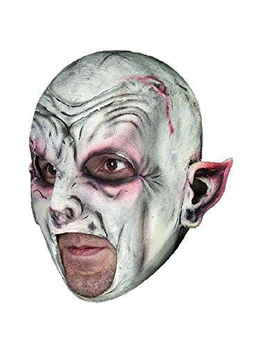Vampir kinnlose Latex Maske zum Dracula Nosferatu Kostüm ()