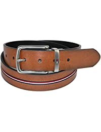 33314456 Tommy Hilfiger Men's Reversible Jean Belt with Ribbon Inlay