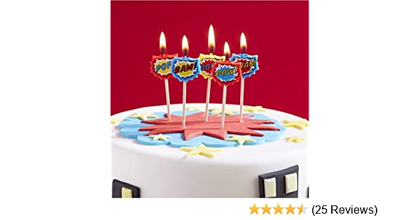 24 PINK BIRTHDAY PARTY CAKE CANDLES CANDLE HOLDERS