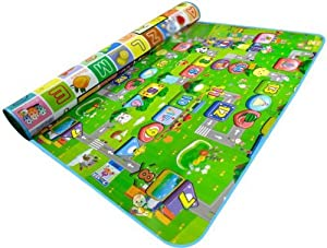 DUDEYBABA Double-sided Foam Waterproof Baby Crawling Mat/Pad Game + Alphabet Foldable. 2 Sizes. - WWT from Worldwide Trading