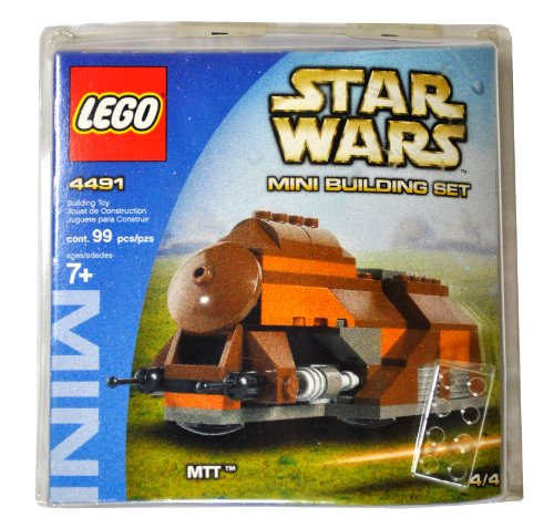 Lego-Year-2003-Star-Wars-Series-Mini-Building-Set-4491-Trade-Federation-Multi-Troop-Transport-MTT-with-Y-Wing-Parts-4-Total-Pieces-99