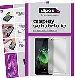 dipos I 2X Schutzfolie klar passend für Nokia 2.1 Folie Bildschirmschutzfolie
