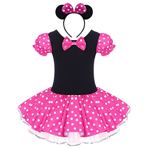 Kinder Baby Mädchen Geburtstags party Outfit Kurzarm Polka -