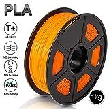Orange PLA 3D-Druckfilament, Maßgenauigkeit +/- 0,02 mm, 1kg / Spule, 1,75 mm, umweltfreundliches Filament geeignet für 3D-Drucker / 3D-Druckstift