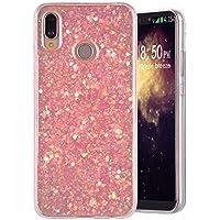 Funda Huawei P20 Lite, MeganStore Carcasa Suave Gel Silicona Diseño de Glitter Bling Brillante Trasera Acrilico TPU Funda para 5.84 pulgada Huawei P20 Huawei P20 Lite