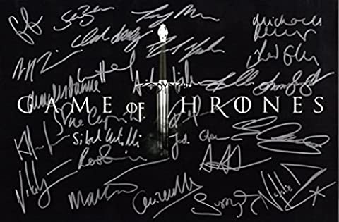 Édition limitée Game of Thrones Cast Photo dédicacée par autographe