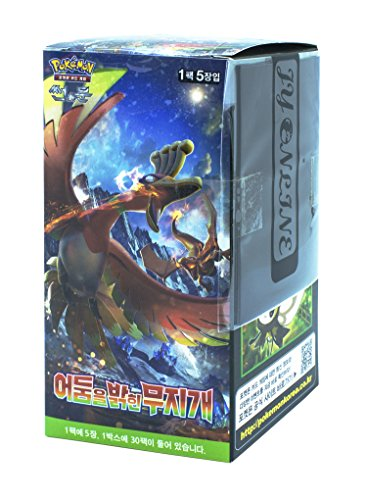 Pokémon Cartes Sun & Moon Booster Pack Boîte 30 Packs en 1 boîte Ombres Ardentes (To Have Seen the Battle Rainbow) + 3pcs Premium Card Sleeve Corée TCG 8809286677225