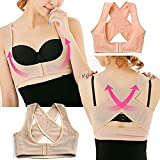 Jern Women Stretchable Breast Push Up Brace Bra and Back Support, Posture Corrector